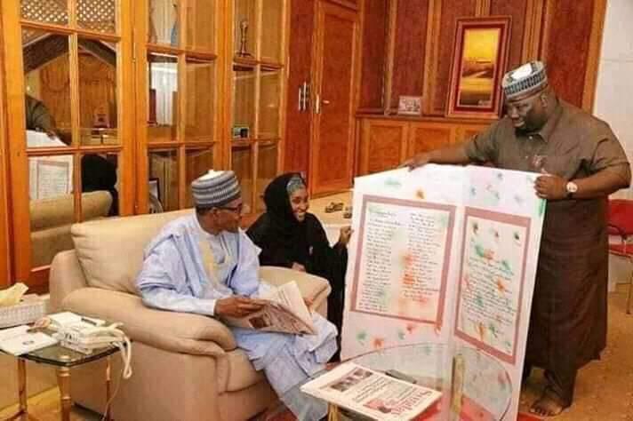 PHOTOs of Buhari, alleged wife, as Presidency denies report