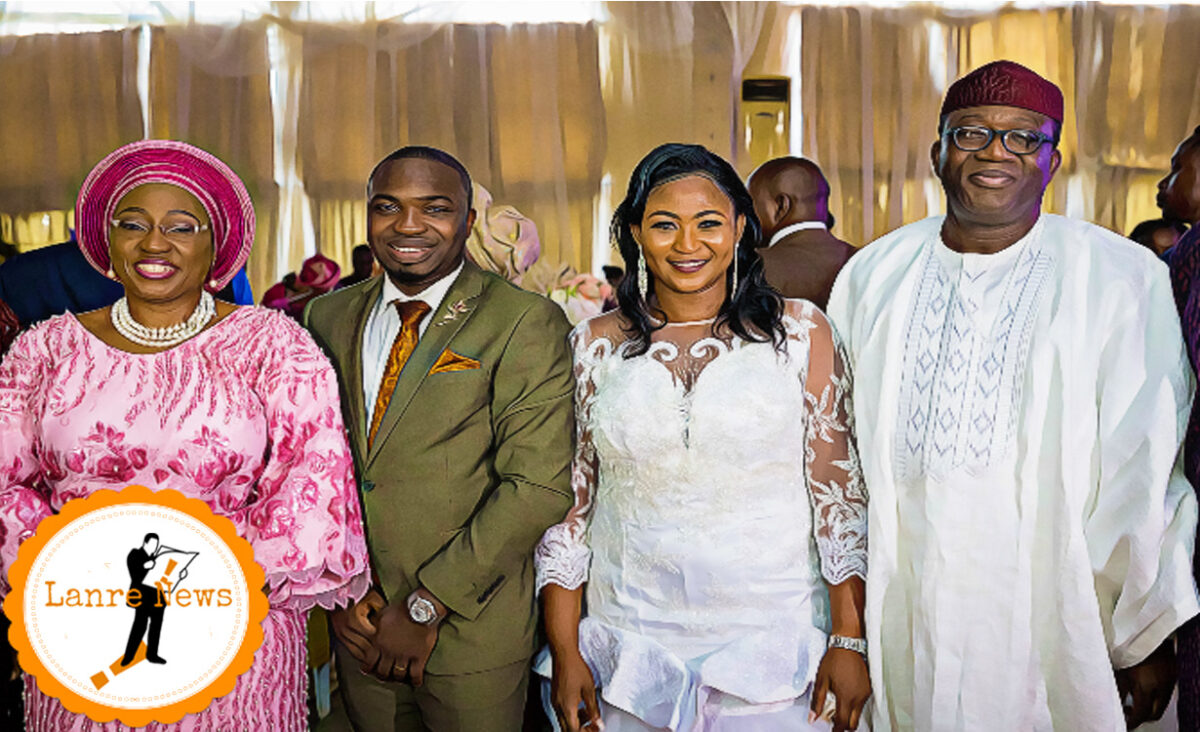 PHOTOs: Governor Fayemi and Wife, Ex-Gov Mimiko & Wife At Wedding