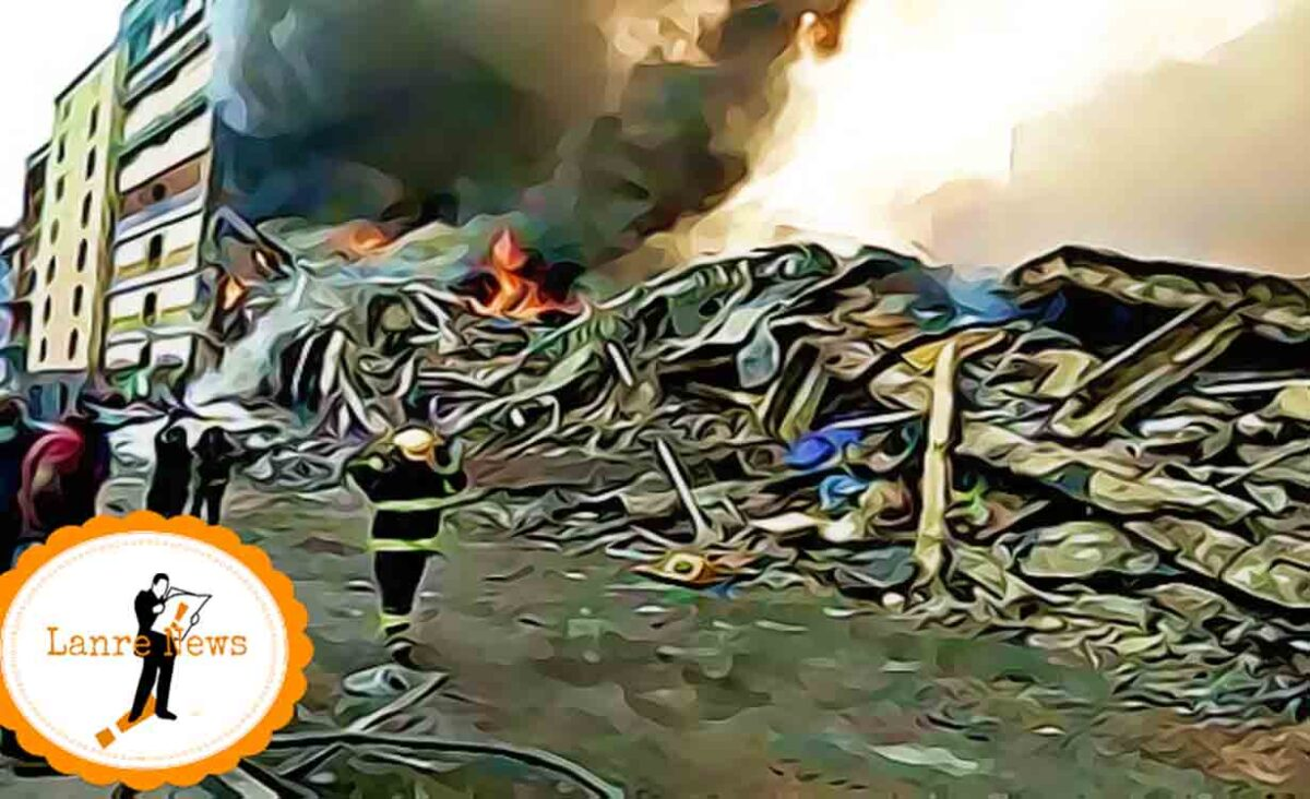Lagos Fire: Pregnant Woman, 16 Others Injured, 4 Buildings Collapsed ― LASEMA