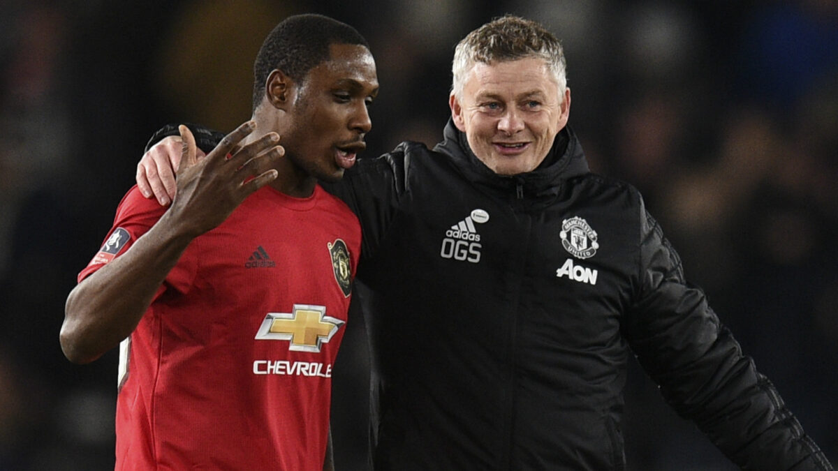 Ighalo and Solskjaer Man United